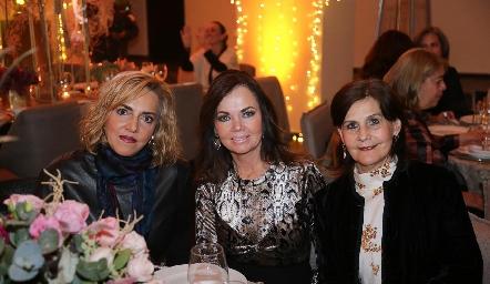 Mimí Hinojosa, Elsa Tamez y Luchi Castelo.