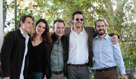 Javier Meade, Jessica, José, Benjamín y José Martín Alba.