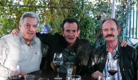 Antonio Díaz Infante, José Martín Alba y Sergio Velasco.