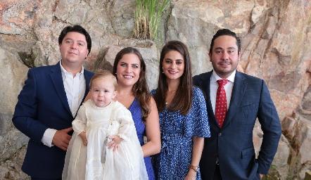 Bolillo Zollino, Danitza Lozano, el pequeño Daniel, Vero Romero y Ángel Torres.