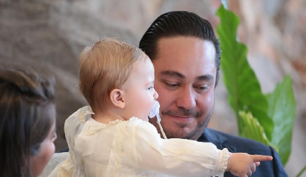 Daniel y su padrino Ángel Torres.