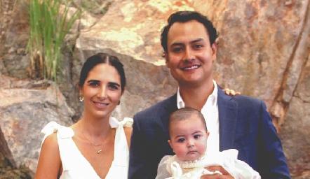 Marina Jourdain, Doménica y Ricardo Leos.