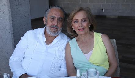 Alfonso Díaz de León y Rosana Benavente.