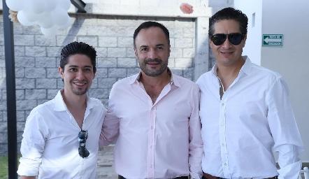 Rodrigo Dauajare, Eduardo y César Ramos.