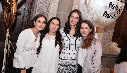 Isa Castelo, Paola Córdova, Paulina Torres y Mónica Torres.