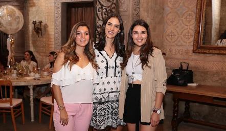 Mimí Navarro, Paulina Torres y Diana Villanueva.