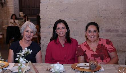 Rebeca Mendizábal, Gaby Meade y Laura Rodríguez.
