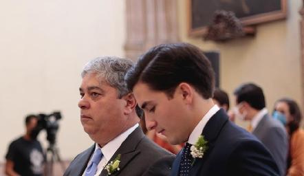 Gerardo Córdova con su hijo Julio.