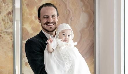 Pato Valle con su hija Martina.