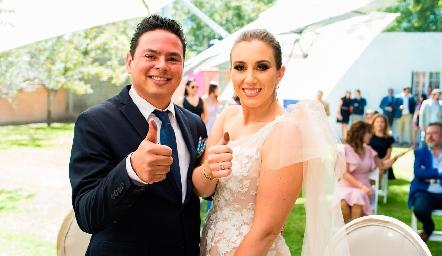 Esteban Meade y Patricia Dantuñano ya son esposos.