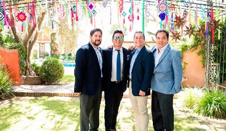 Ismael Esqueda, Barra Meade, Alejandro Sánchez y Tony Ascanio.