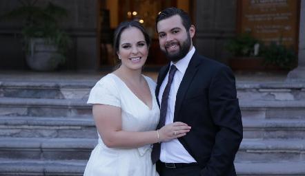 Andrea Díaz Infante Dávila y Arturo Zapata Navarro ya son esposos.