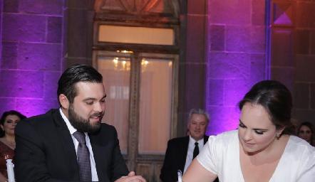 Arturo Zapata Navarro y Andrea Díaz Infante Dávila.