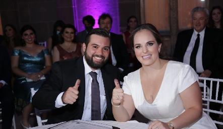 Arturo Zapata y Andrea Díaz Infante ya son esposos.