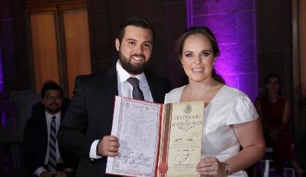 Arturo Zapata y Andrea Díaz Infante se casaron por el civil.