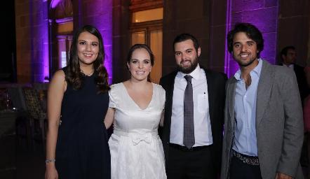 Diana Villanueva, Andrea Díaz Infante, Arturo Zapata y Samuel Romo.