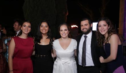 Mimí Navarro, Fabiola Aguillón, Andrea Díaz Infante, Arturo Zapata y Lorena de la Parra.