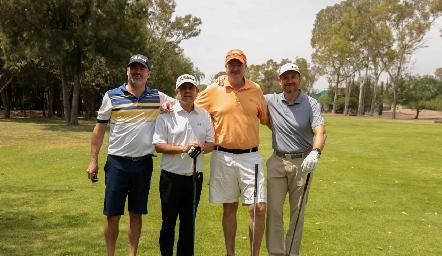 Oscar Zermeño, Galo Galván, Juan Hernández y Manuel Toledo.
