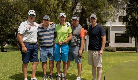 Salomón Dip, Jorge Villarreal, Gildo Gutiérrez, Humberto Abaroa y Rodrigo Hernández.