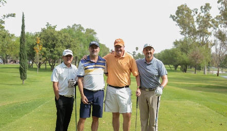 Galo Galván, Oscar Zermeño, Juan Hernández y Manuel Toledo.