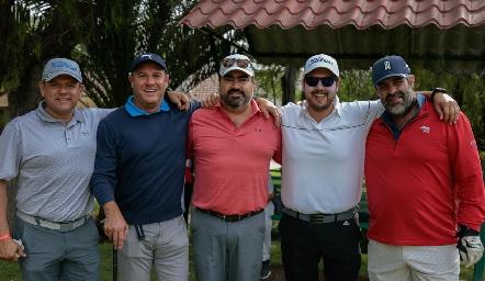 José Guevara, Juan Benavente, Juan José Leos, Javier Abella y Fernando Abaroa.