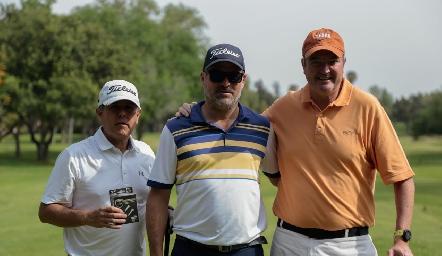 Galo Galván, Oscar Zermeño y Juan Hernández.