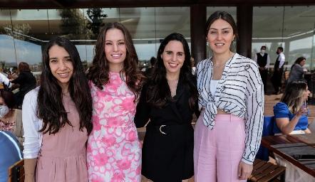 Mariana González, Bárbara Portales, Luciana Rodríguez y Lili Medina.