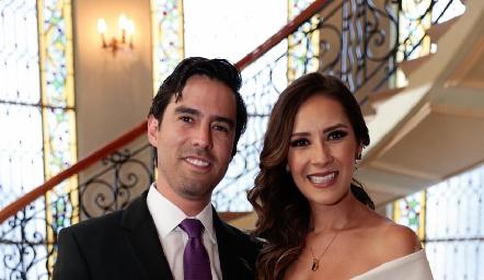 Alejandro González Rangel y Estefanía Gutiérrez Márquez en su Boda Civil.