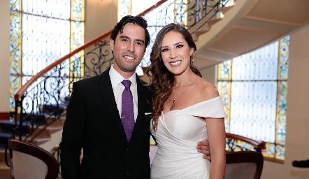 Alejandro González y Estefanía Gutiérrez.