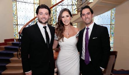 Oscar Rangel, Estefanía Gutiérrez y Alejandro González.
