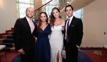 Abel Rangel, Alynn Ruiz, Estefanía Gutiérrez y Alejandro González.