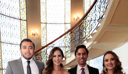 Paco Robles, Estefanía Gutiérrez, Alejandro González y Diana Gutiérrez.