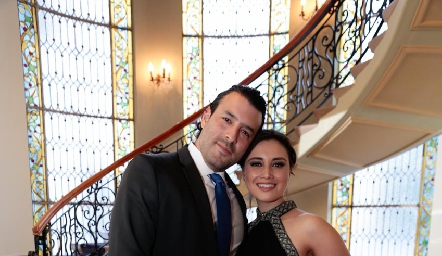Adrián González y Sofía Saucedo.