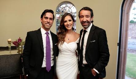 Alejandro González, Estefanía y Jorge Gutiérrez.