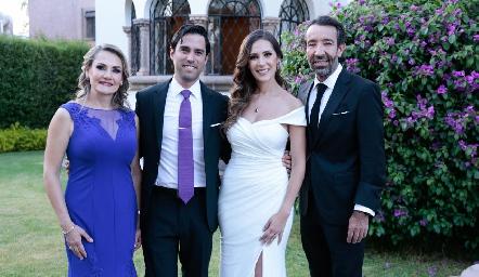 Pilar Márquez, Alejandro González, Estefanía y Jorge Gutiérrez.