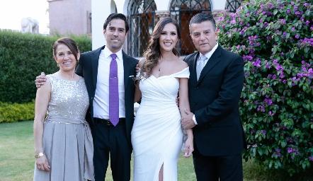 Lucía Rangel, Alejandro González, Estefanía Gutiérrez y Arturo González.