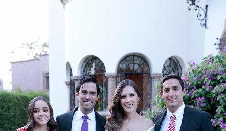 Valeria Gutiérrez, Alejandro González, Estefanía Gutiérrez y Gerardo Delgado.