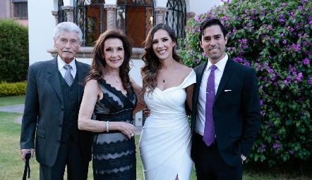 Mario Márquez, Pilar López, Estefanía Gutiérrez y Alejandro González.