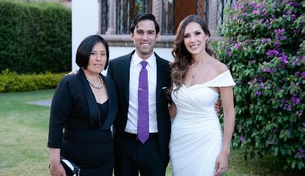 Elizabeth Ortega, Alejandro González y Estefanía Gutiérrez.