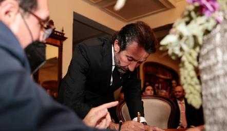 Jorge Gutiérrez, papá de la novia.