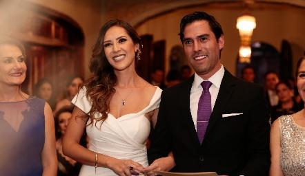 Estefanía Gutiérrez y Alejandro González ya son marido y mujer.