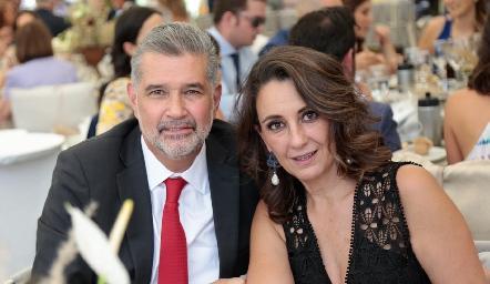 José Luis Leiva y Gloria Martínez.