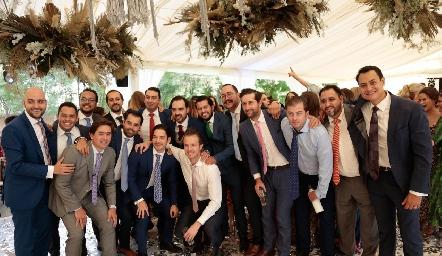 Rafael y sus amigos.