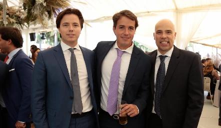 Pablo Herrera, Javier Meade y Germán Sotomayor.