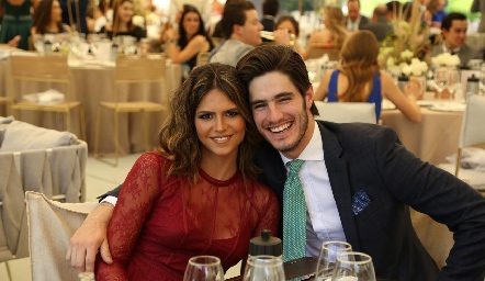Ana Paula de la Fuente y Franco Molina.