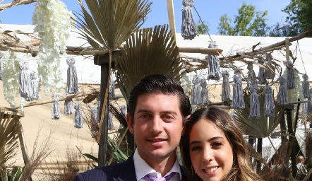 Diego Cerecedo y Alejandra Villarreal.