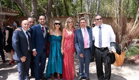 Tomás Alcalde, Jorge González, Rafa Olmos, Roxana Serna, Claudia Quiroz, Galo Galván y Alejandro Santibáñez.