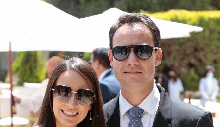 Sandra de la Garza y Oscar Foyo.