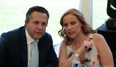 José Alberto Torre y Mariana Torres.