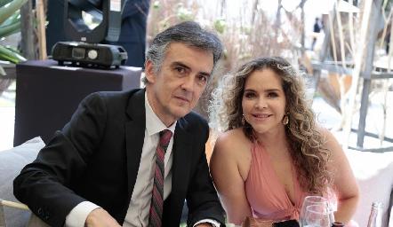 Fernando del Pozo y Gaby Serment.